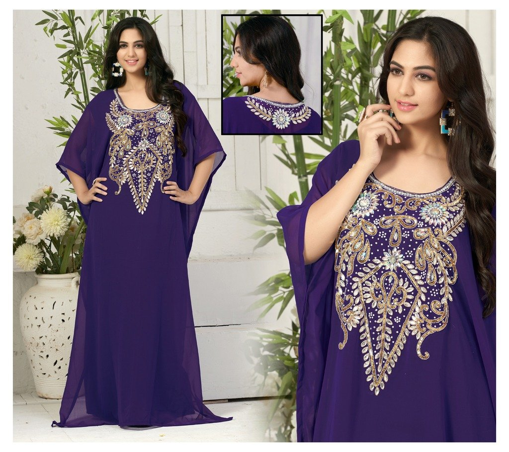IndianAttire Women Wedding Farasha Kaftan Caftan Abaya Evening Party ...
