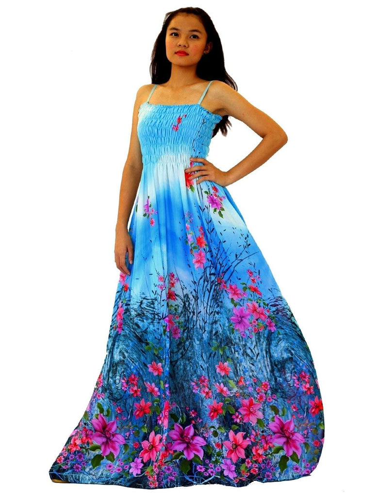 37606495d61 MayriDress Maxi Dress Women Plus Size Tall Full Length Hawaiian Summer  Cocktail Extra Long Sexy Blue. Hover to zoom