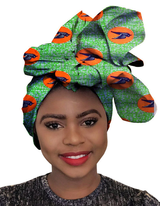 African Traditional Wax Print Head wrap Headwrap Scarf Tie,Gele One Size