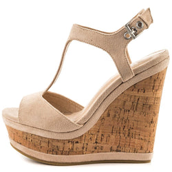 Women's Wedges Sandals High Platform Open Toe Ankle Strap Shoes