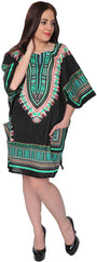 Mitchell Lewiss Dashiki-Style Tunic Top One Size Fits Most - Free Size