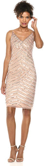 Adrianna Papell Women's Beaded Short Dress
