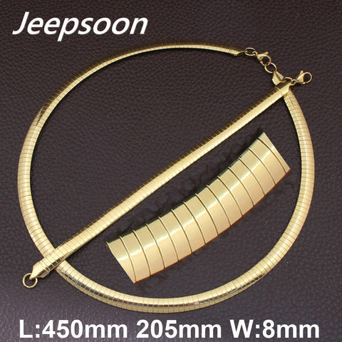 8mm Stainless Steel Fashion Jewelry High Quality Gold&Silver Color Collars Necklace & Bracelet Set For Women And Girls SBJGAABI