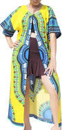 RaanPahMuang Casual Outer Cloak Part Dress Bold Dashiki Ladies Dress Flow Robe