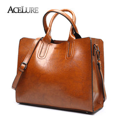 ACELURE Leather Handbags Big Women Bag High Quality Casual Female Bags  Trunk Tote Spanish Brand Shoulder ... 8b5aa6c1d0b43