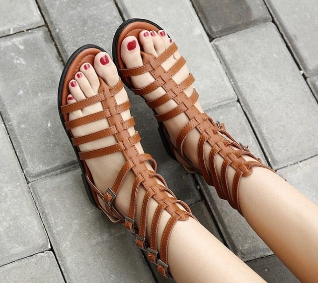 1a595e4fe Hover to zoom · AIYKAZYSDL Women Rome Shoes Gladiator Sandals Flip Flops  Thong ...
