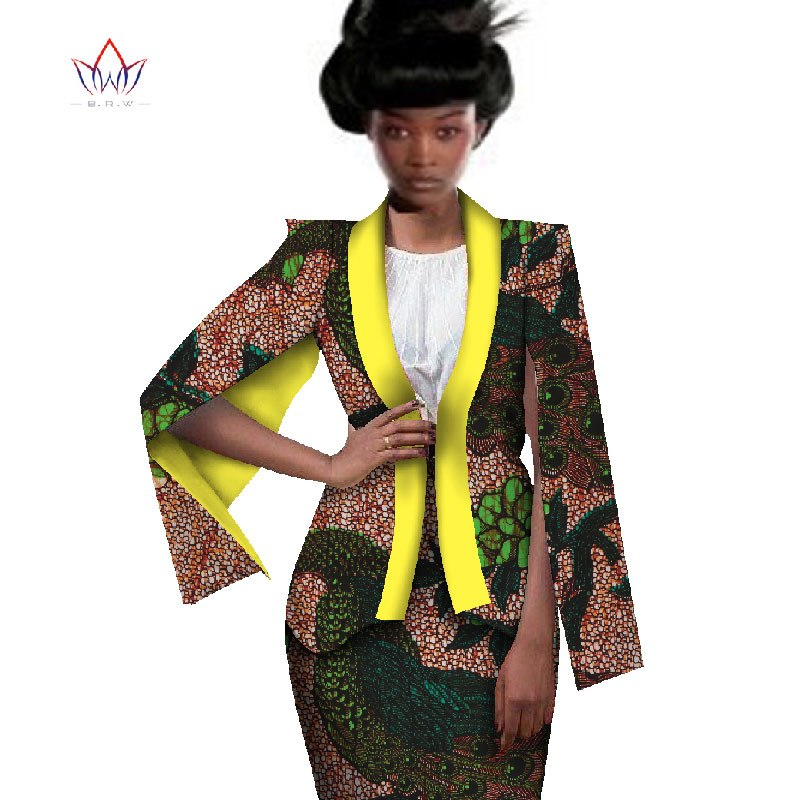 Africa Style Women African Clothing Two Piece Set Dress Suit For