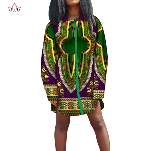 Africa Style Women Modern Fashions Womens Long Sleeve Tops Dashiki African Print Tops Shirt Plus Size Women Clothing WY5821