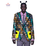 African Bazin Riche Brand Clothing Elegant Long Sleeve Mens Jackets Blazer Men Casual African Print Cotton Mens Blazer BRW WYN55