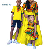 African Clothes Print Long Dresses for Women Mom and Daughter Dress Son Shirt and Pants Sets African Family Clothing WYQ183