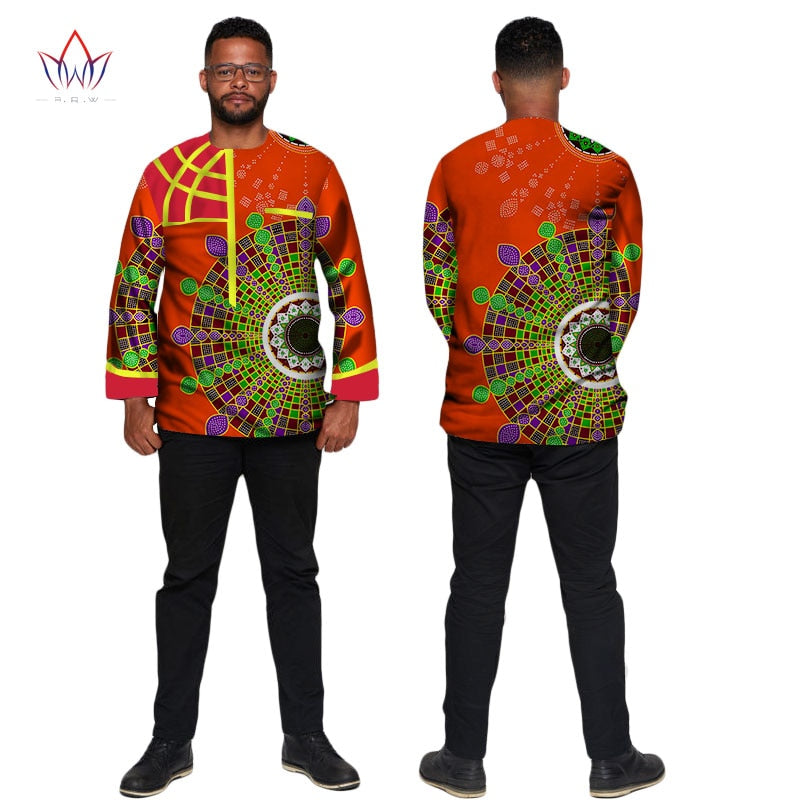 34fbd9040 Hover to zoom · African Clothing Dashiki Men Casual Shirt Men Long Sleeve  Slim Fit Dress Shirt Bazin Rich African