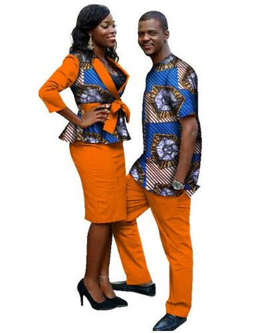 African Clothing Real Sale Cotton Women 2018 African Print Fashion Couples Clothing (women+men) M-6XL