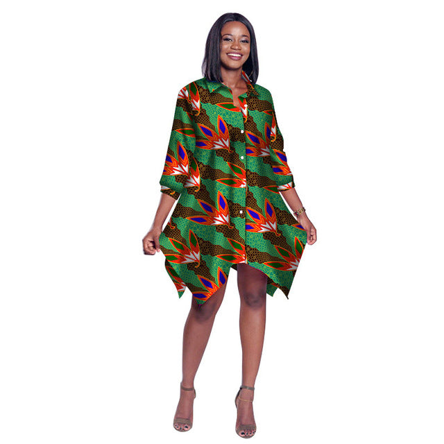 68d653a5433 ... Print Wax Shirt for Women Dashiki Africa Clothing Bazin Plus Size. Hover  to zoom
