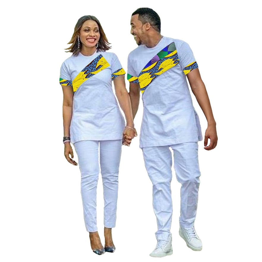 64b6278774f African Couple Outfit Women Sets And Men Sets Outfit for Couples ...
