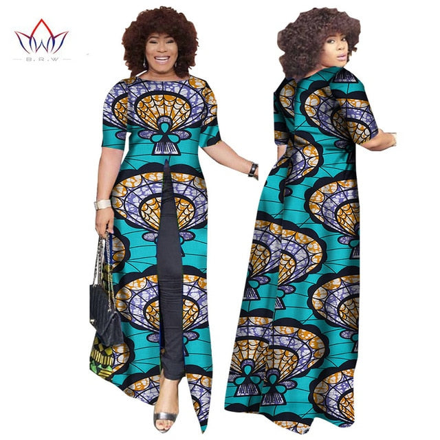 1e25e7813889 ... African Dashiki African Dresses Casual Straight Split Printing African  Print Cotton Clothing Chemise Africaine Femme BRW ...