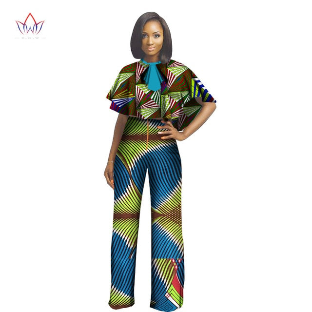 ... African Dashiki For Women Top And Pants Set Women Suit Traditional  African Clothing Print Dashiki cotton ... 5c9ee77130