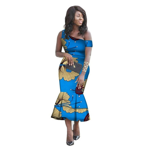 3d64dabc3e0e ... Image of African Dress for Women Fashion One-Shoulder Mermaid Dresses  Women Plus Size Sexy ...