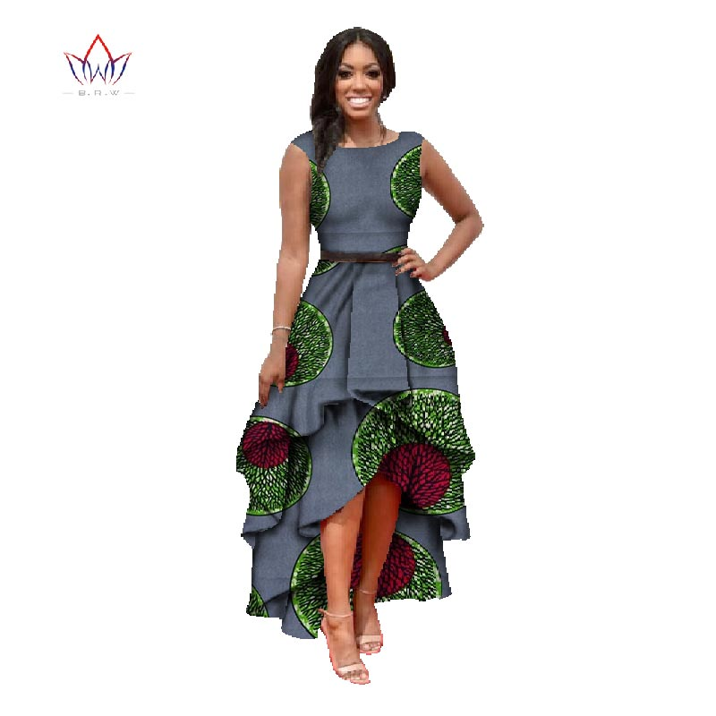 African Dresses For Women African Dashiki Dresses Cotton Dress Sleeveless  African Print Dress Plus Size 1