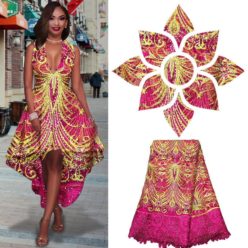 1ff0220340f African Dresses For Women Lace Appliques African Lace Fabric 2017 High  Quality Beaded Lace Bridal Fabric. Hover to zoom · African Dresses For  Women Lace ...