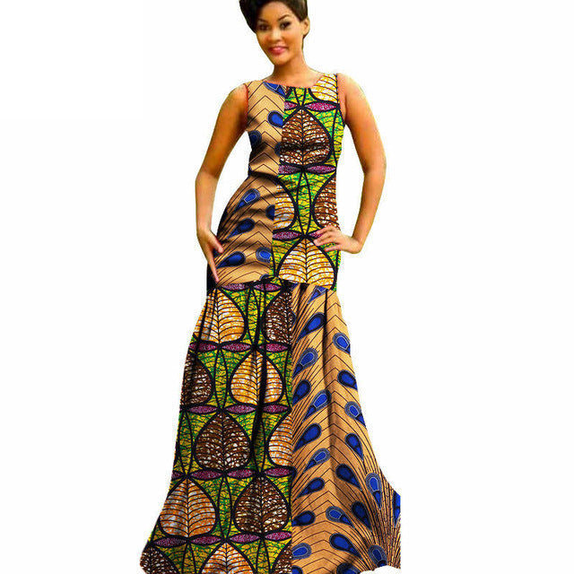 African Dresses For Women Sleeveless Casual Plus Size Traditional ...