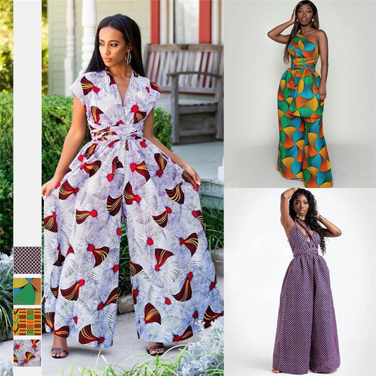 African Dresses for Women 2020 Fashion Dashiki Print Maxi Ankara Style Lacies African Clothes DIY Bandag Sexy Robe Africaine