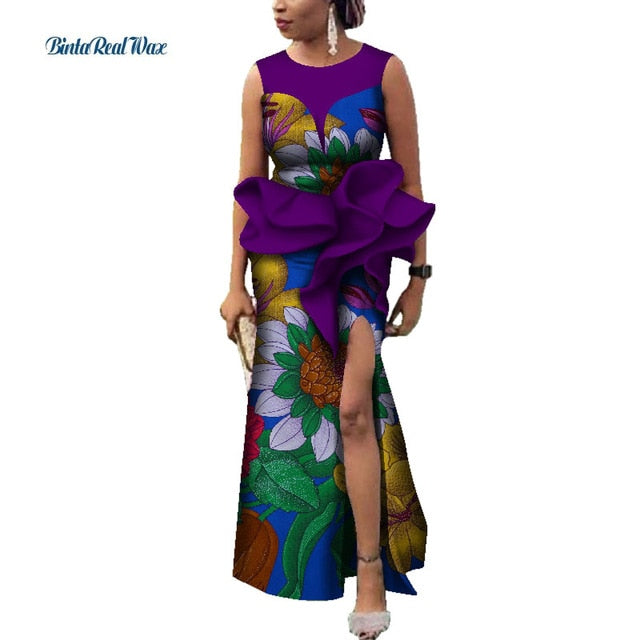 1f7b2b1f6d African Dresses for Women Bazin Riche African Clothing Women Long Evening  Party Dresses Dashiki African Print Dresses WY3611