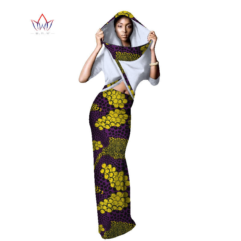 70cdb921ba African Dresses for Women Fashions Designs Plus Size Two Piece Set Women  Crop Tops with Hat. Hover to zoom