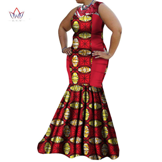 African Dresses for Women Summer Dress Women Dashiki African Print Dress Maxi Dress Party Sexy Bazin Riche Clothing 6XL WY1383