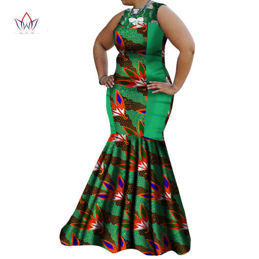 African Dresses for Women Summer Dress Women Dashiki African Print Dress Maxi Dress Party Sexy Bazin Riche Clothing 6XL WY1383 1