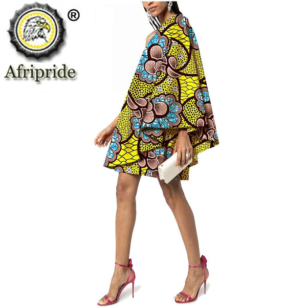 African Fashion Women`s Casual Dress Dashiki Ankara Print Sexy Summer Plus Size Floral Wear Dress Party Loose Cotton S2025015