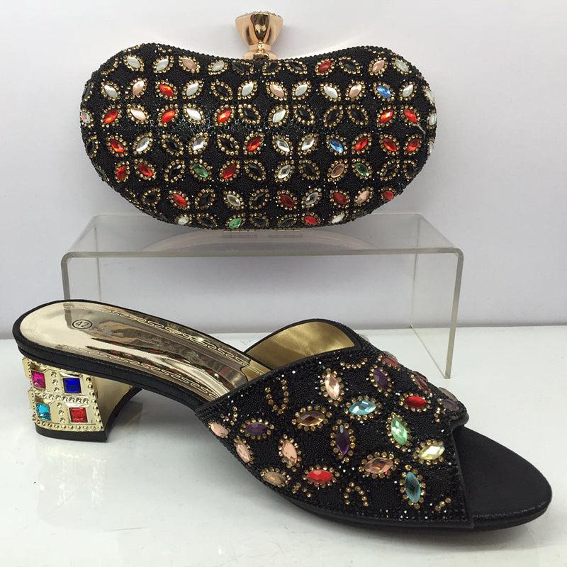 323e92196b1764 ... African Italian Shoes and Bag Set Royal Blue Matching Women Shoes and  Bag Set Decorated with ...