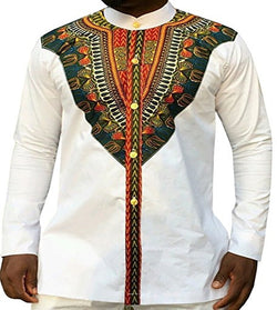 African  Limited Polyester Men Dashiki The New 2018 African Nation Wind Printing Long Sleeve Shirts