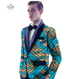 African Men Print Cotton Men Blazers Brand Clothing Fashion Style Men Suit Jacket Coat Plus Size African Men Clothing 6XL WYN127