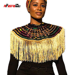 African Multistrand Necklace Shawl Fringe decoration Ankara African Net Necklaces Shawl Collar Women Clothings Accessories SP056