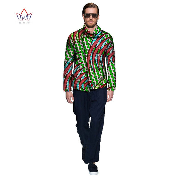 African Print Clothing Men Suit Jacket Coat Dashiki Men Slim Fit Asymmetric Design Elegant Long Sleeve Men Tops Plus Size WYN112