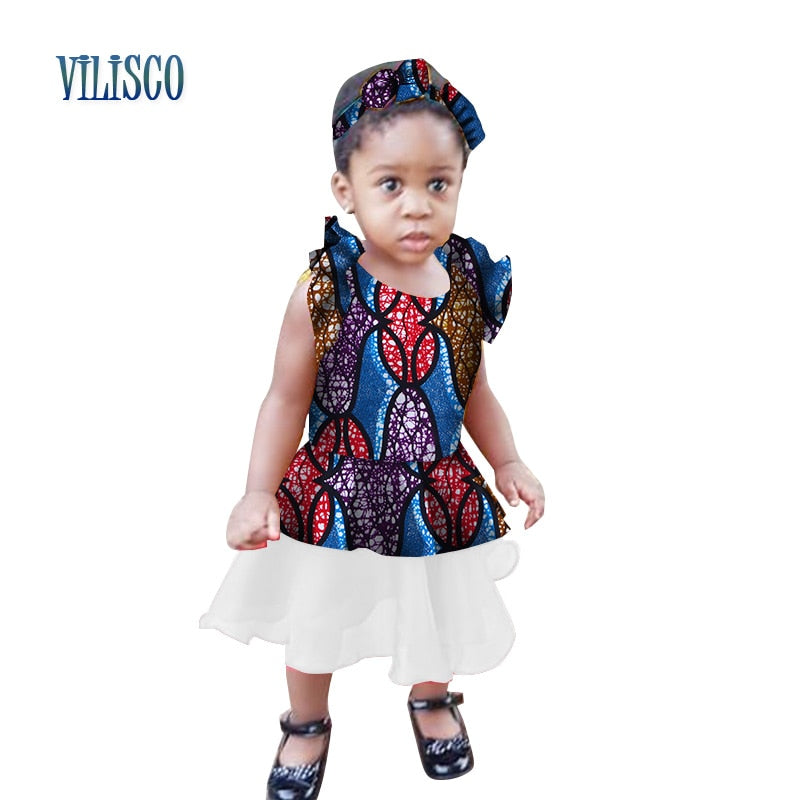 f23774cf7f367 Hover to zoom · African Print Dress for Kids Girls Bazin Riche Summer  Custom Children Clothing ...