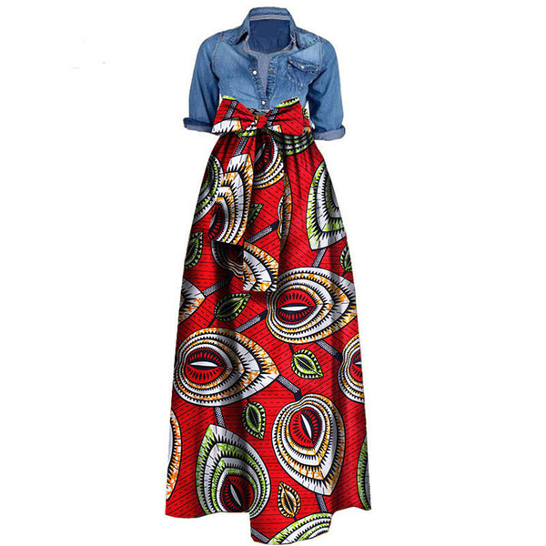 African Print Dresses for Women 2020 News Wax Fabric Skirts Traditioanal Dashiki Bazin Plus Size Party Fashion African Clothes