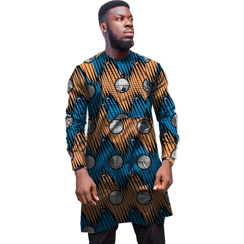 Traditional Design Clothes | African Clothes Customized Ankara Print Shirts Men Africa Clothing