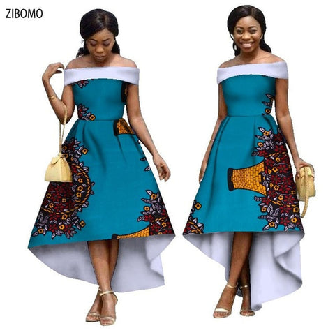 African clothing wax fabric dress for women Nigerian maxi plus big size dashiki ankara wedding party women dress 2019