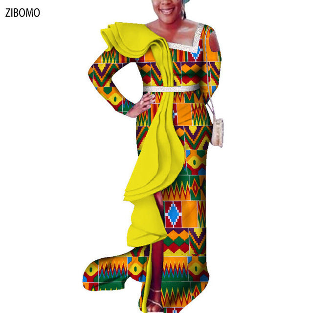 7fccef0ceb53 Hover to zoom · African clothing women dress Nigerian wedding party dress  wax fabric maxi plus big ...