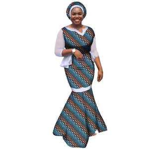 47a95216e3f African dresses for women african clothes elegant princess style ankara  print cotton floor length private custom ...