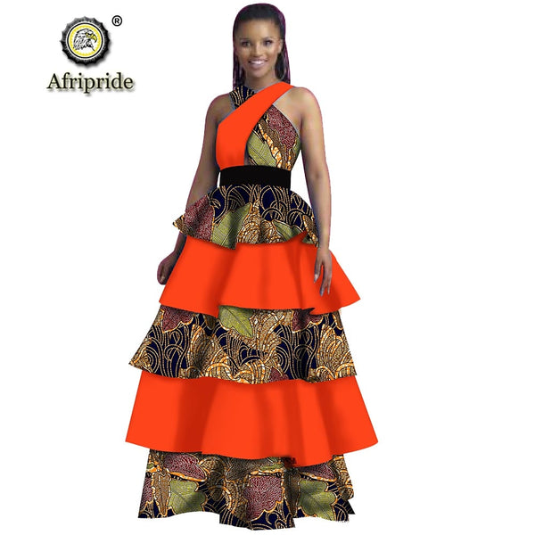African dresses for women dress plus size party dress maxi dress dashiki print a-line dress sleeveless AFRIPRIDE S1925070