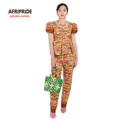 African dresses for women fashion two-piece suit set scasual style african  clothes print cotton ... a630ecbca91a