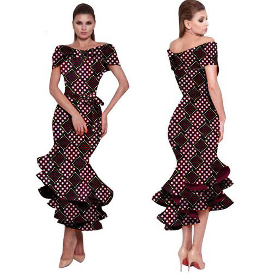 ... African dresses for women wax fabric african clothing print mermaid  banquet formal plus big size maxi ... 476fb420a6f6