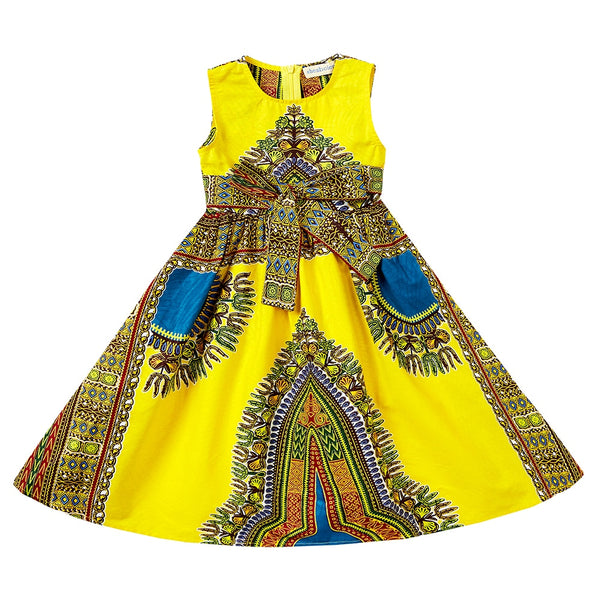 African kids lovely dress baby girl dashiki dress african traditiona dress Dashiki barik cotton material Clothing for kids