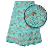 African lace fabric 2017 high quality lace swiss voile lace in switzerland nigerian lace fabrics for wedding NA869B-1