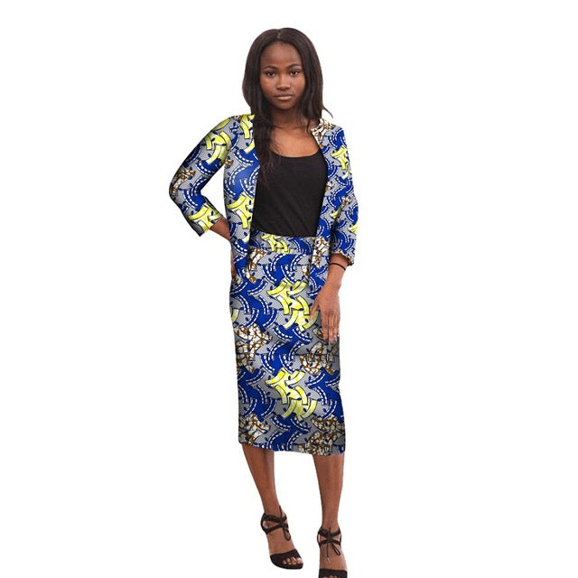 6e72c2c276 Hover to zoom · African print women's outfit three quarter sleeve jackets  with skirts set fashion dashiki Africa ...
