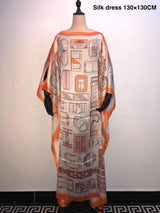 Amazing Printed Silk Kaftan women long dresses Dashiki Traditional African lady Party dresses African Dress for women