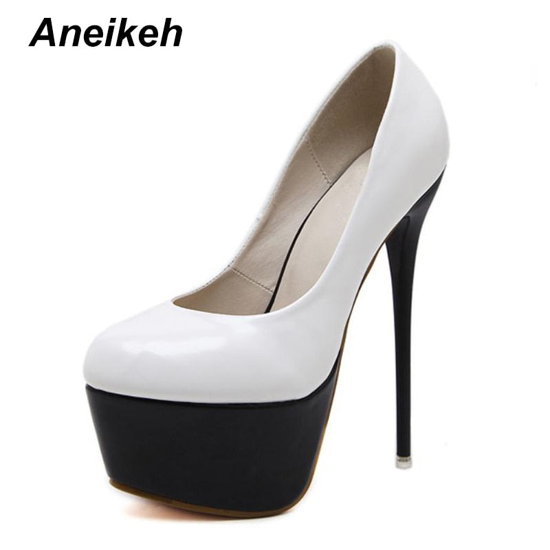 4cb4f60b3 Hover to zoom · Aneikeh Sexy High Heels 16cm Wedding Shoes Woman Pumps ...