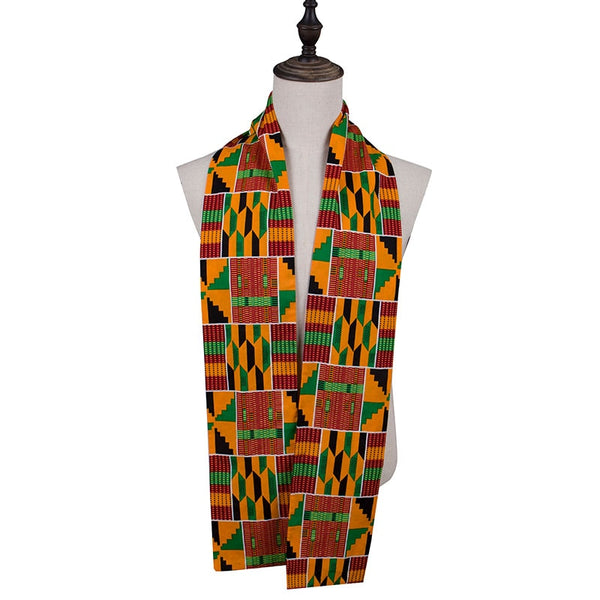 Ankara Africa Man Woman Bazin Scarf High Quality African Hair Head Scarf African Headwrap Wax Fabric Scarves Wyb562